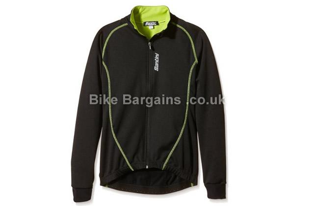 Santini Nova Zero Windproof Waterproof Black Jacket black, Small
