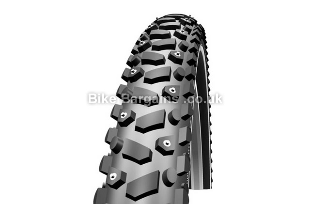 "Schwalbe Snow Ice Kevlar Guard Studded Wired Tyre 26"", 700c"