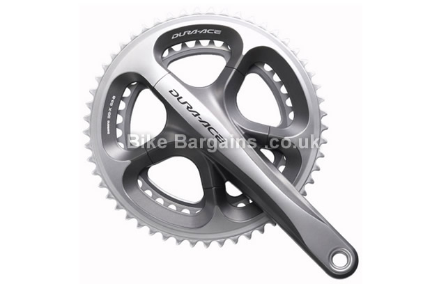 Shimano Dura Ace 7900 10 Speed Double Chainset 175mm, Silver, Alloy, 10 speed, Double Chainring, Road, 725g