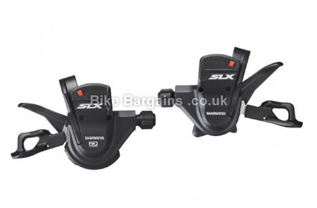 Shimano SLX M670 10 Speed Rapidfire Gear Shifters Pair black, 10 speed