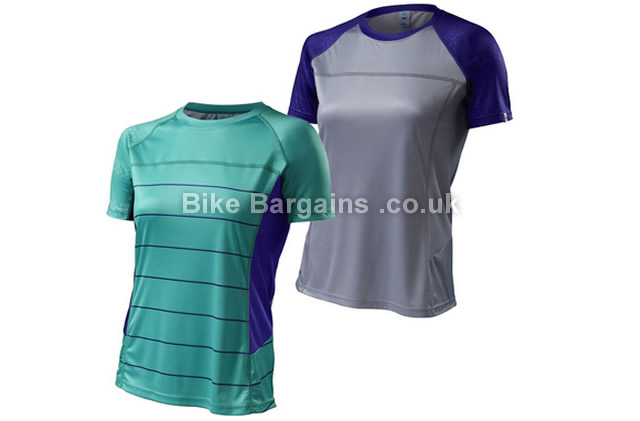 Specialized Ladies Andorra Comp Vaporize Short Sleeve Jersey 2015 XS,M, Green, Grey