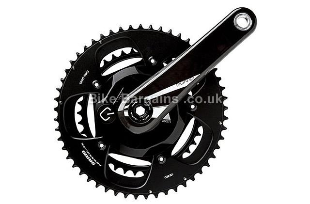 SRAM Quarq Riken 10R Power Meter Carbon Chainset black, 172.5mm, 175mm