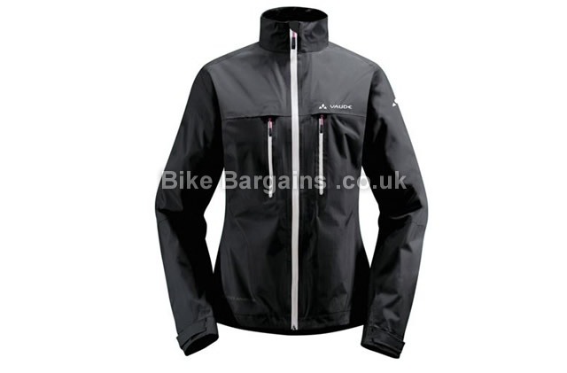 Vaude Ladies Tiak Black Rain Jacket XS,S,M, black