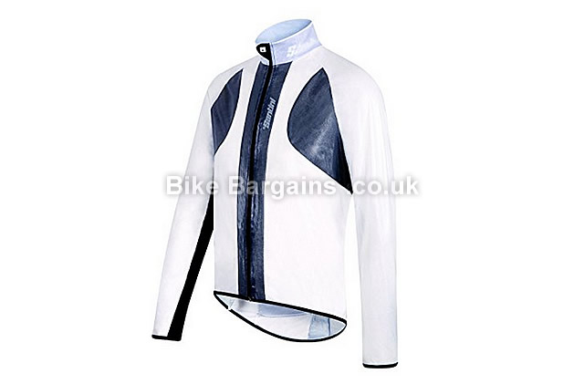 Santini 365 Balthus 2.0 Packable Spray Cycling Jacket white, L