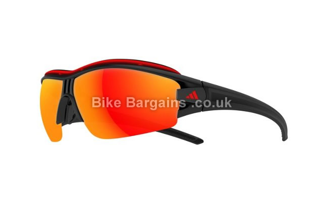 Adidas Evil Eye Halfrim Pro Mirror Cycling Sunglasses black, XS