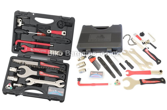 Bike Hand 18 Piece Shimano Bicycle Maintenance Tool Kit black, 18 piece
