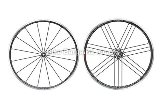 Campagnolo Shamal Ultra Tubular Black Shimano Road Wheel Set black, front, rear