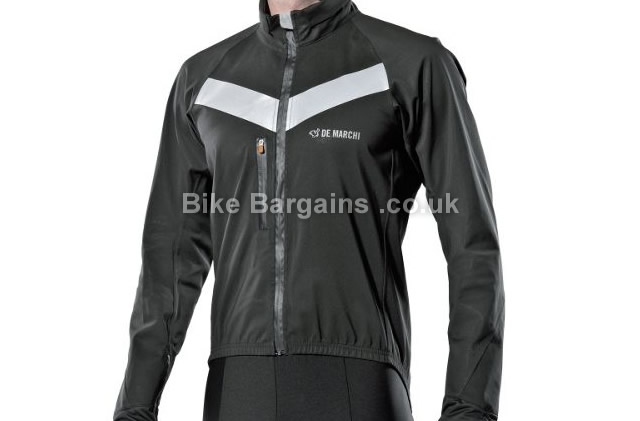 De Marchi Contour Plus Ultra 3L Black Hard Shell Cycling Jacket black, XS,S,XL