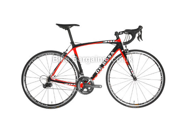 De Rosa Idol Ultegra 6800 Carbon Road Bike 2016 52cm, Black, Red, Carbon, 11 speed, Calipers, 700c