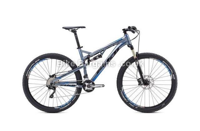 "Fuji Outland 29 inch 1.3 Full Suspension Mountain Bike 2014 17"", grey, blue"