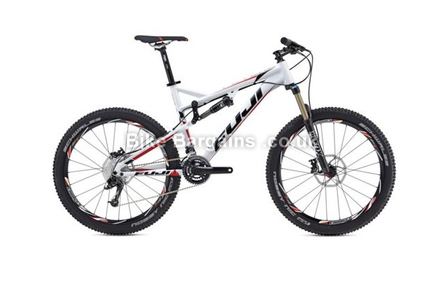 "Fuji Reveal 1.1 27.5 inch Alloy Full Suspension Mountain Bike 2014 19"", white"
