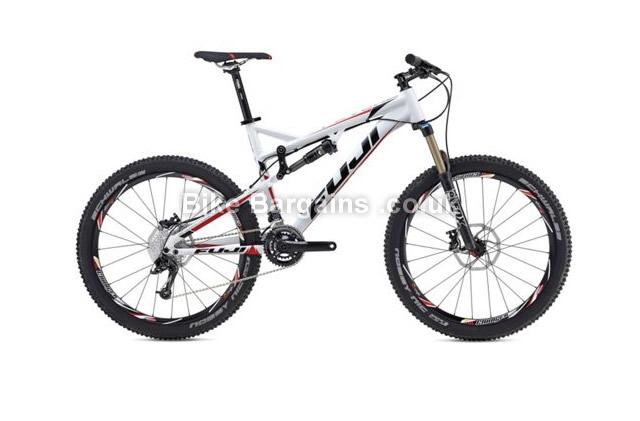 "Fuji Reveal 1.1 27.5 inch Alloy Full Suspension Mountain Bike 2014 19"", white"