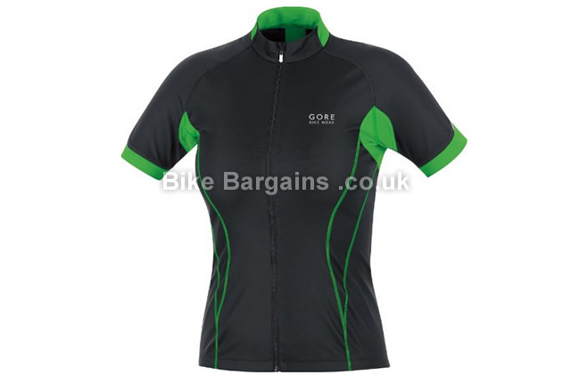Gore Bike Wear Ladies Oxygen Windstopper SS Cycling Jersey green, size 42