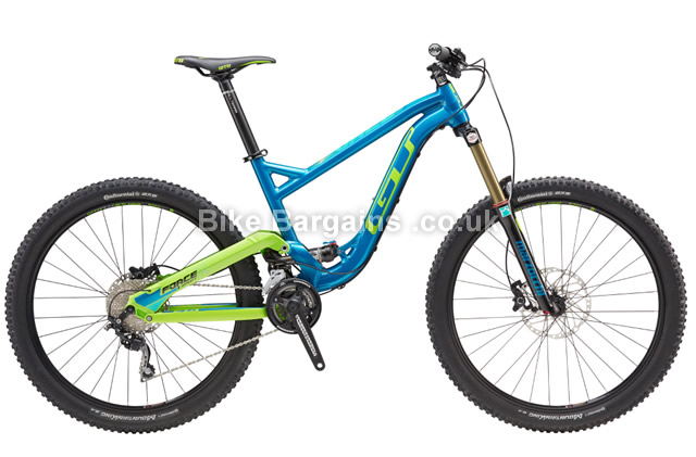 GT Force AL Sport 27.5 inch Full Suspension Mountain Bike 2016 S, M, L, XL, Blue