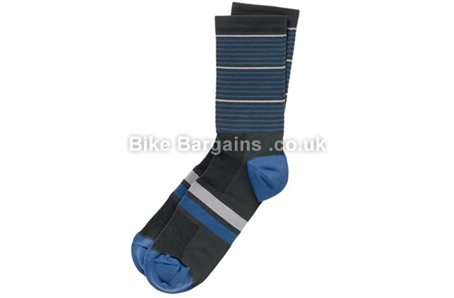 Hoy Vulpine Blue Stripe Sock Two Pack S, M, blue