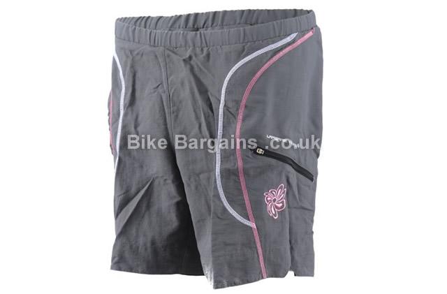 Lapierre Grey Ladies Baggy MTB Shorts XS, grey, pink