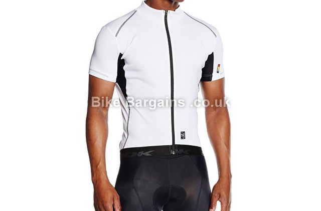 Look Black Label Short Sleeve Cycling Jersey white, M