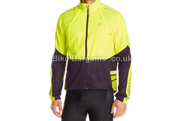 Pearl Izumi Mens Elite Barrier Zip Convertible Cycling Jacket yellow, S