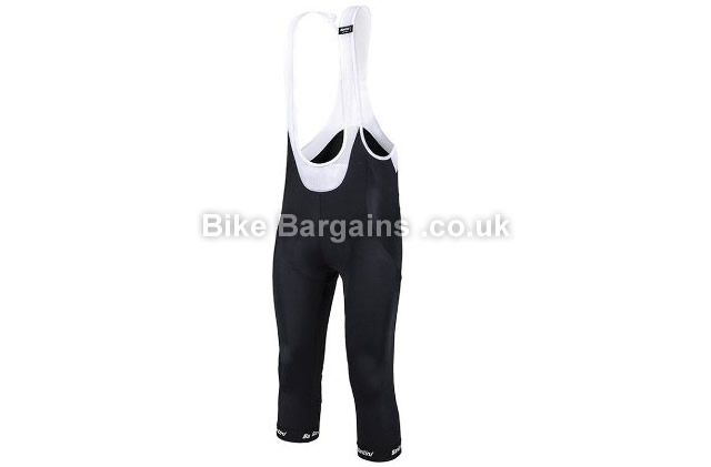 Santini 365 Gara Thermofleece Gel Intech three quarter Bib Tights black, M