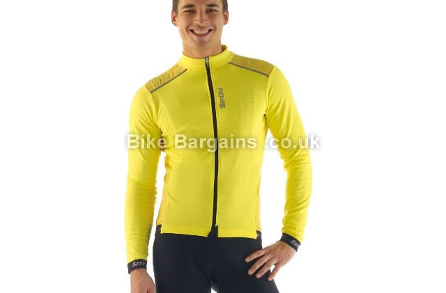 Santini 365 Primo Road Long Sleeve Cycling Jersey XL, yellow
