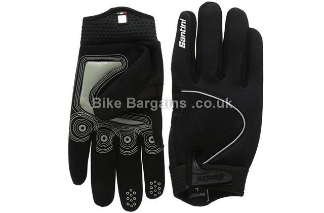 Santini 365 Studio Airtech Black Cycling Gloves XL, black