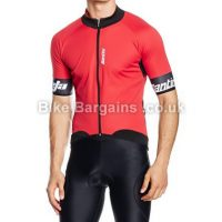 Santini Beta Wind Stopper Waterproof Short Sleeve Jersey
