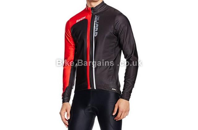 Santini Guard Cycling Jacket black, red, XL,XXL