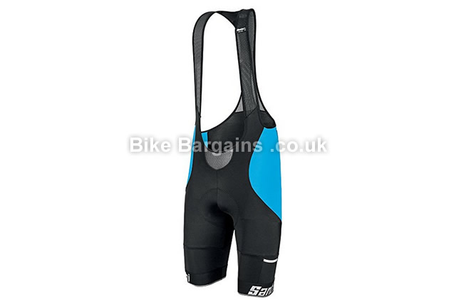 Santini Mago NAT Pad Cycling Bib Shorts XXL, black, red
