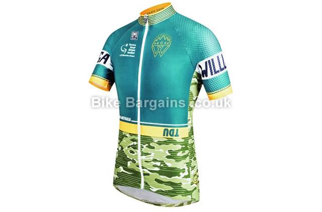 Santini TDU Old Willunga Hill Short Sleeve Jersey S, Green, S