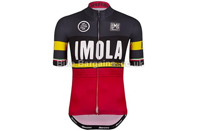 Santini Replica Imola Short Sleeve Cycling Jersey S, red, black