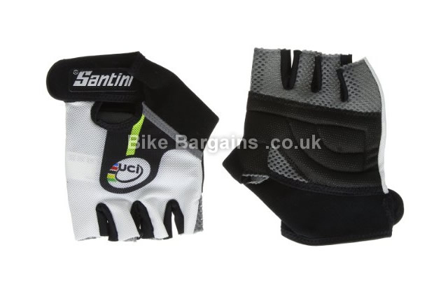 Santini Replica UCI Rainbow Cycle Race Mitts S, black