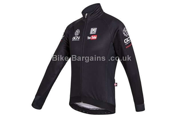 Santini Replica SLK Fuga ZC GCN Windstopper Cycling Jacket S, XL, XXL, Black