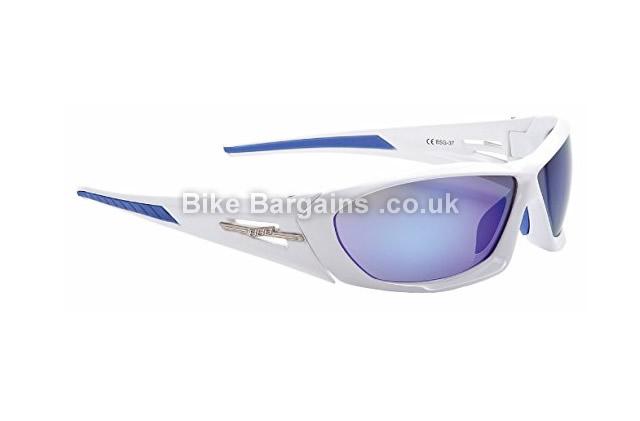 BBB Rapid White Gloss Cycling Sunglasses white