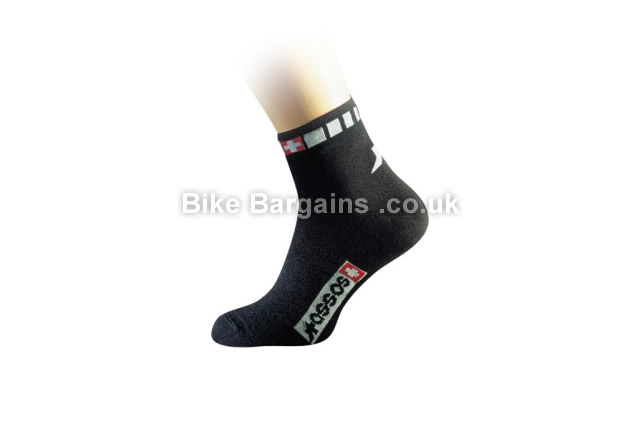 Assos Spring Fall Black Cycling Socks Sizes 1 and 0