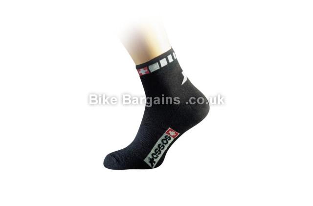 Assos Spring Fall Black Cycling Socks Sizes 1 and 0
