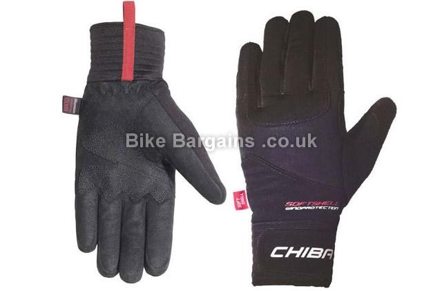 Chiba Classic Windstopper Black Cycling Gloves black, XXL