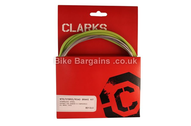 Clarks Universal Road MTB Brake Cable Kit white, red, green