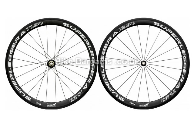 CSN Superleggera XL50 Tubular Road Wheelset 700c, black, shimano
