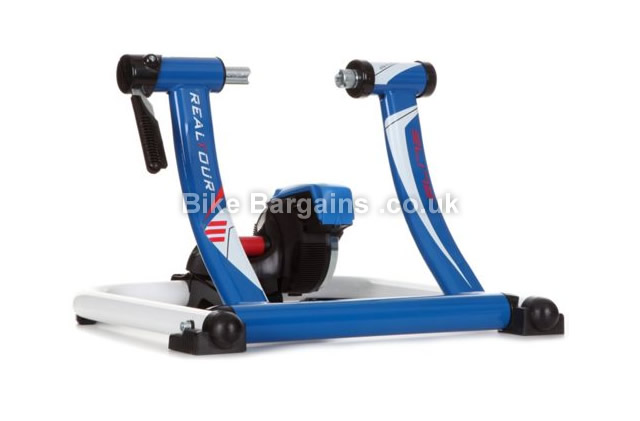 Elite Realtour RITMO Elastogel Cycle Turbo Trainer blue, white