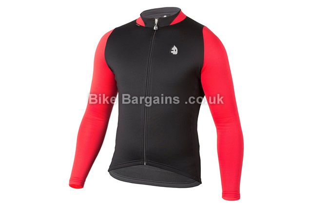 Etxeondo Manten Sport Long Sleeve Cycling Jersey black, red, S,M