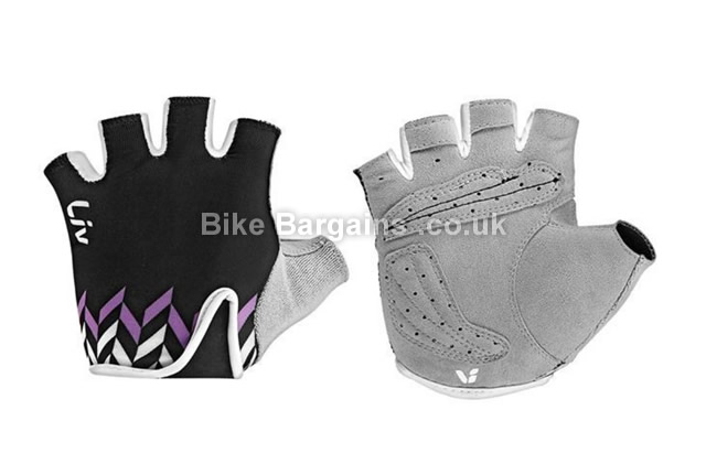 Giant Liv Signature Ladies Black Short Fingered Road Gloves black, S, L