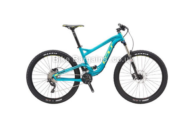 GT Sensor AL Elite Alloy Full Suspension Mountain Bike 2016 blue,M
