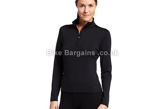 Hot Chillys Ladies Micro-Elite Chamois 8K Zip Top Base Layer black, XL