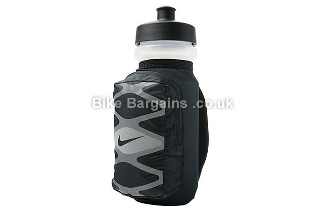 Nike Storm 22oz Hand Held Training Water Bottle black, grey
