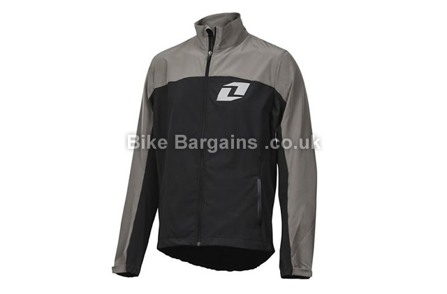 One Industries Ion Windbreaker Cycling Jacket black, grey, S, M