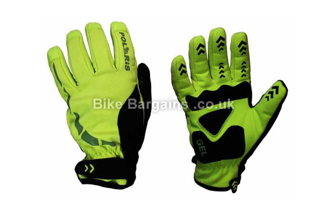 Polaris RBS Hoolie Windproof Cycling Gloves yellow, S, M, L