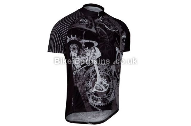 Primal Departed Short Sleeve Cycling Jersey S,M,XL,XXL,XXXL,Black