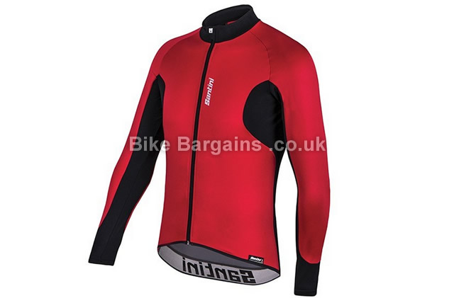 Santini Fenix Long Sleeve Red Cycling Jersey red, L