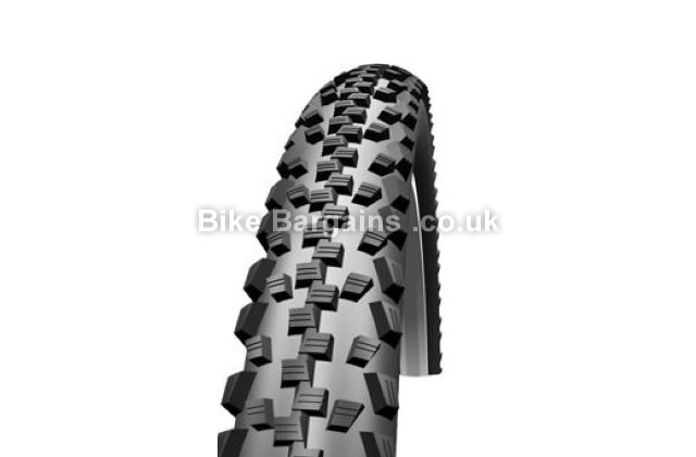 "Schwalbe Black Jack All Terrain Rigid 26 inch MTB Tyre 26"", 2.1"", Black, Wire"