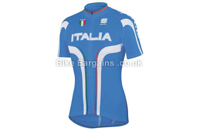 Sportful Italia IT Short Sleeve Cycling Jersey blue, S, M, L, XXL